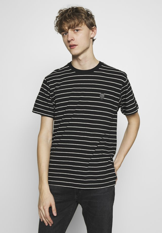 STRIPED - T-shirt print - black/ecru