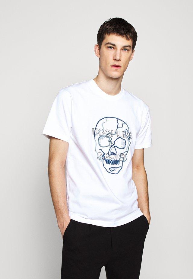 SKULL - T-Shirt print - white