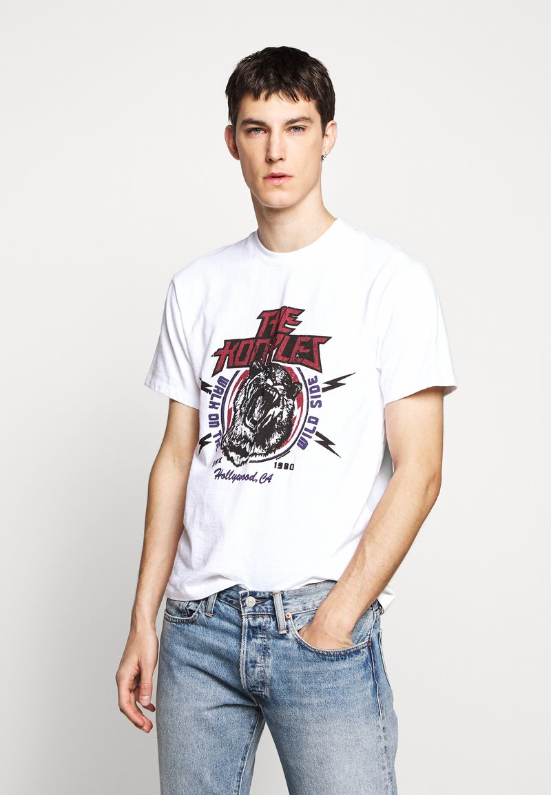 The Kooples - WALK ON THE WILD SIDE - T-shirt print - white