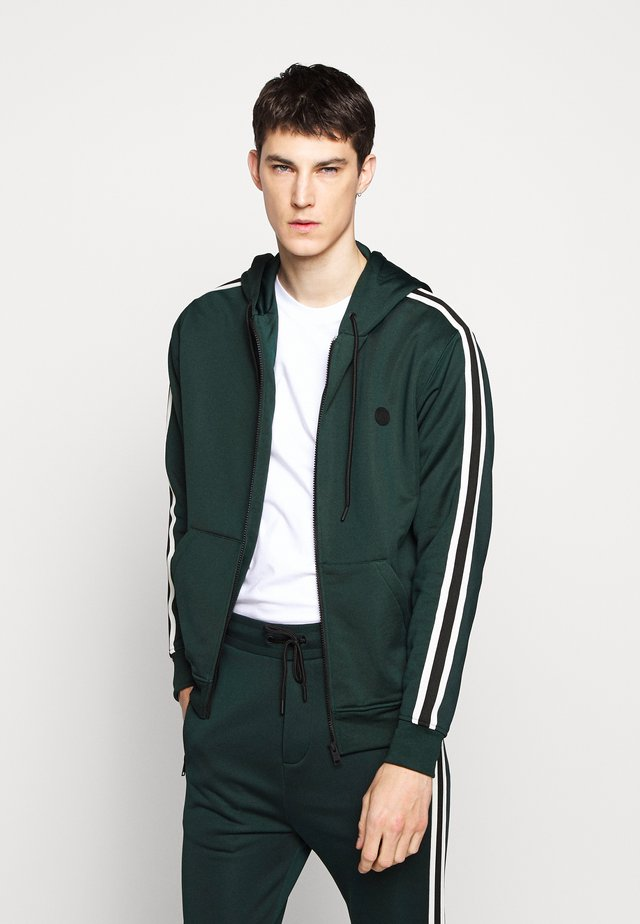Zip-up hoodie - night pine green