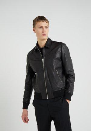 BLOUSON - Veste en cuir - black