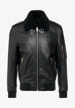 BLOUSON CUIR - Leather jacket - black