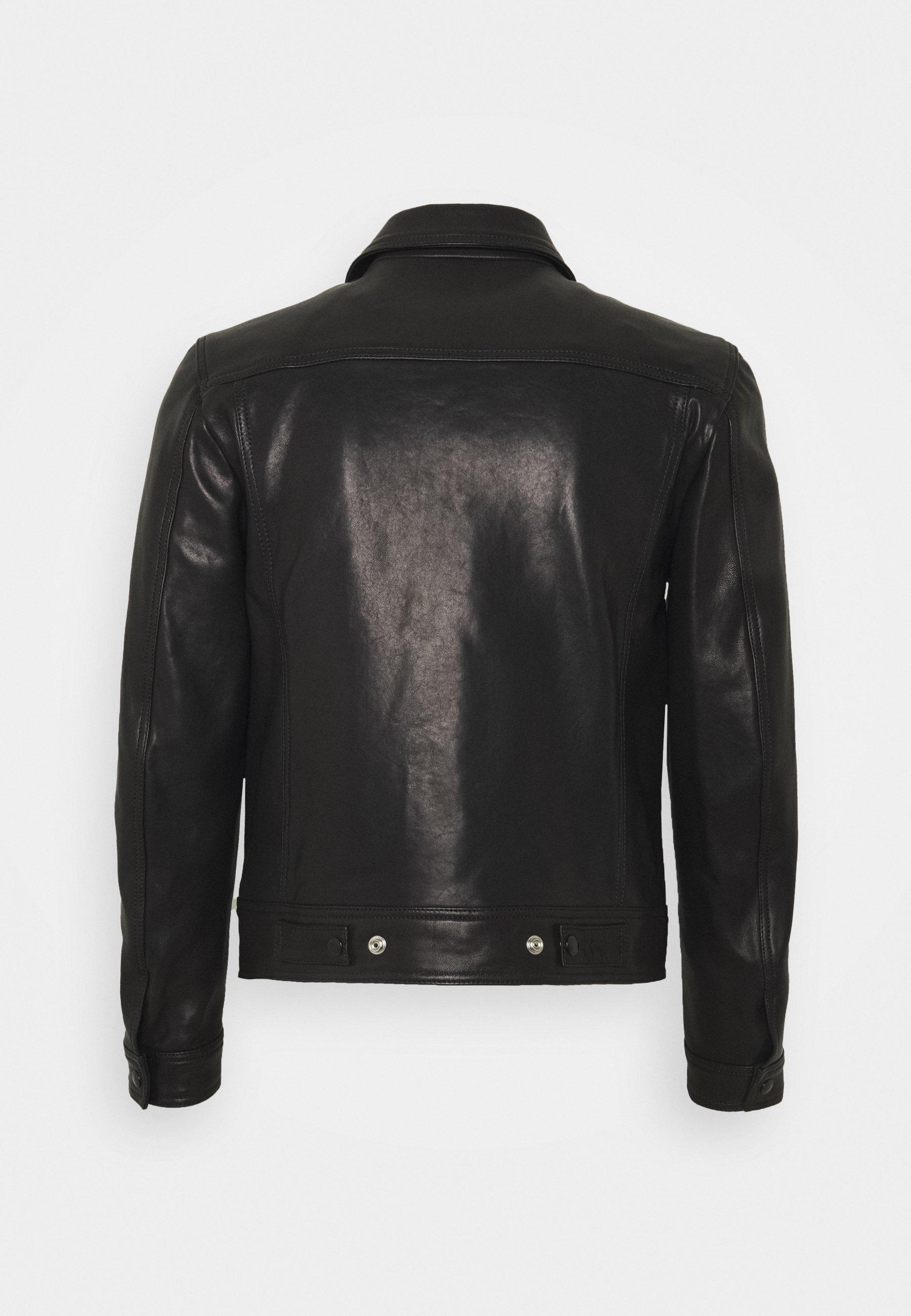 Be Edgy Veste en cuir black Veste en cuir Homme Zalando