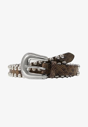 Belt - beige/black