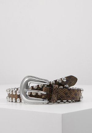 Belt - beige/black