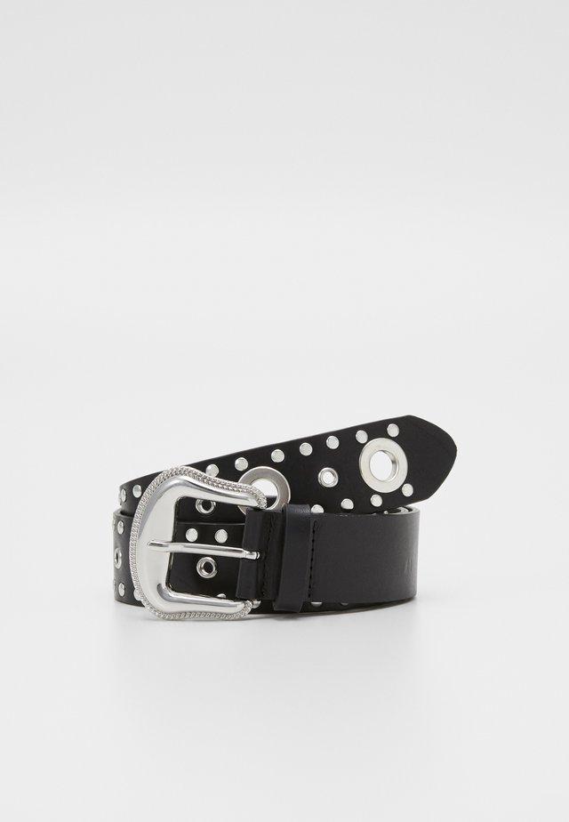 CEINTUES AVEC CLOUS ET OEILLETS - Belt - black