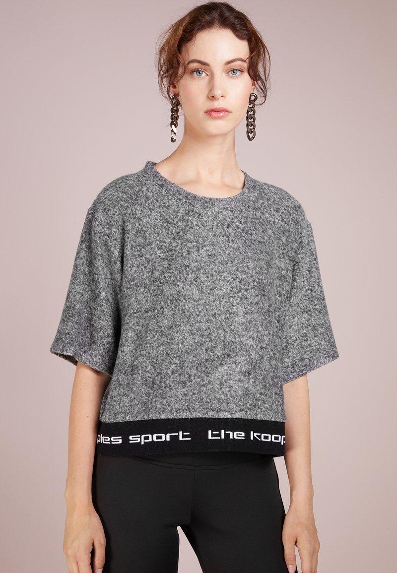 The Kooples SPORT - Camiseta estampada - mottled grey