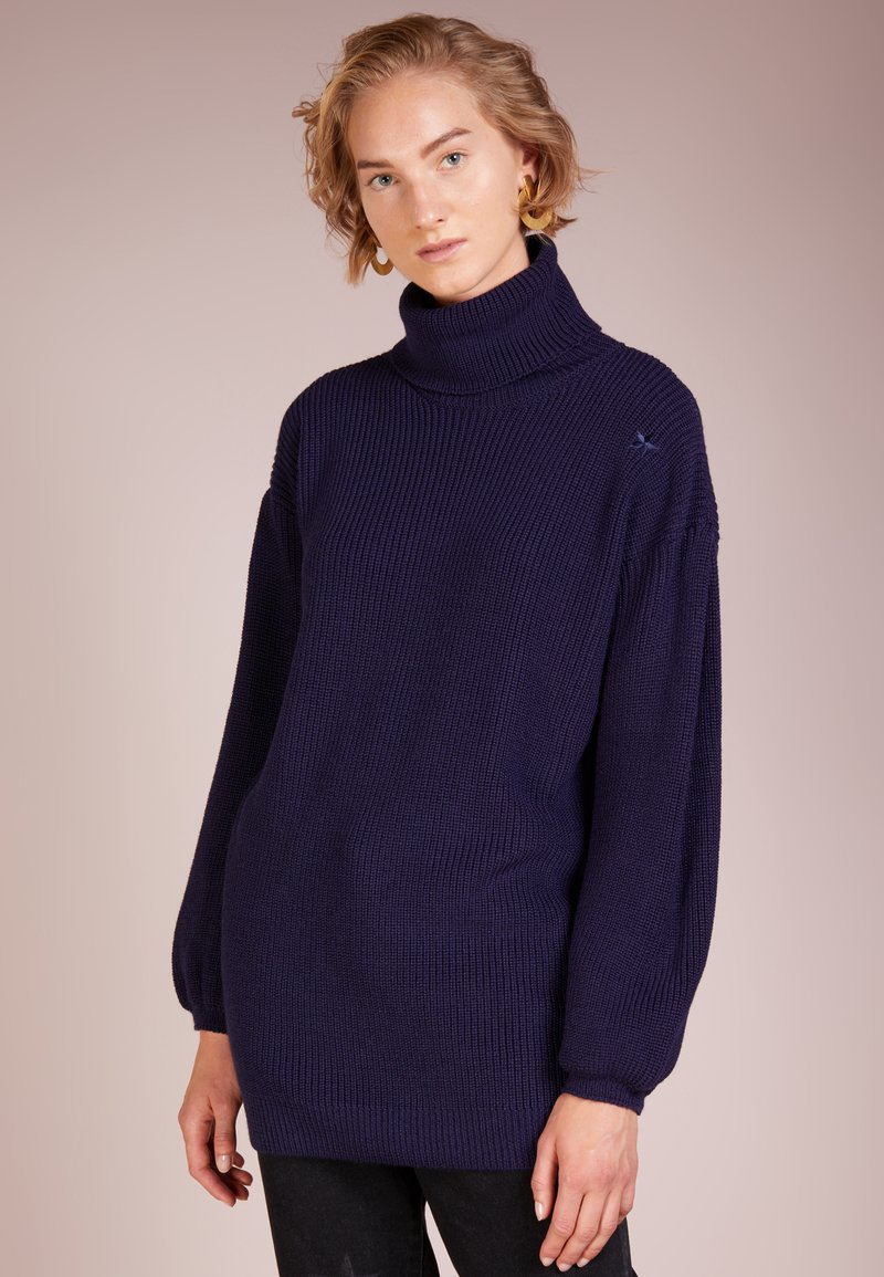The Editor - ROLL NECK - Strikpullover /Striktrøjer - blue