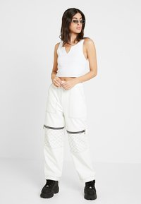 The Ragged Priest - MOTOR PANT WITH CONTRAST STITCH DETAIL - Kalhoty - white - 1