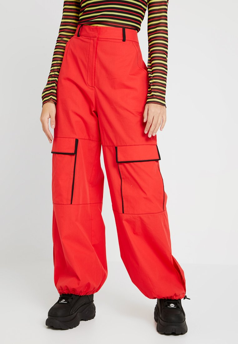 The Ragged Priest - COMBAT WITH DETAILING ELASTIC TOGGLE - Pantalones - red