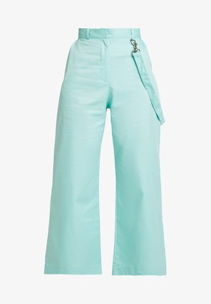 WIDE LEG CROPPED TROUSER WITH STRAP - Broek - mint