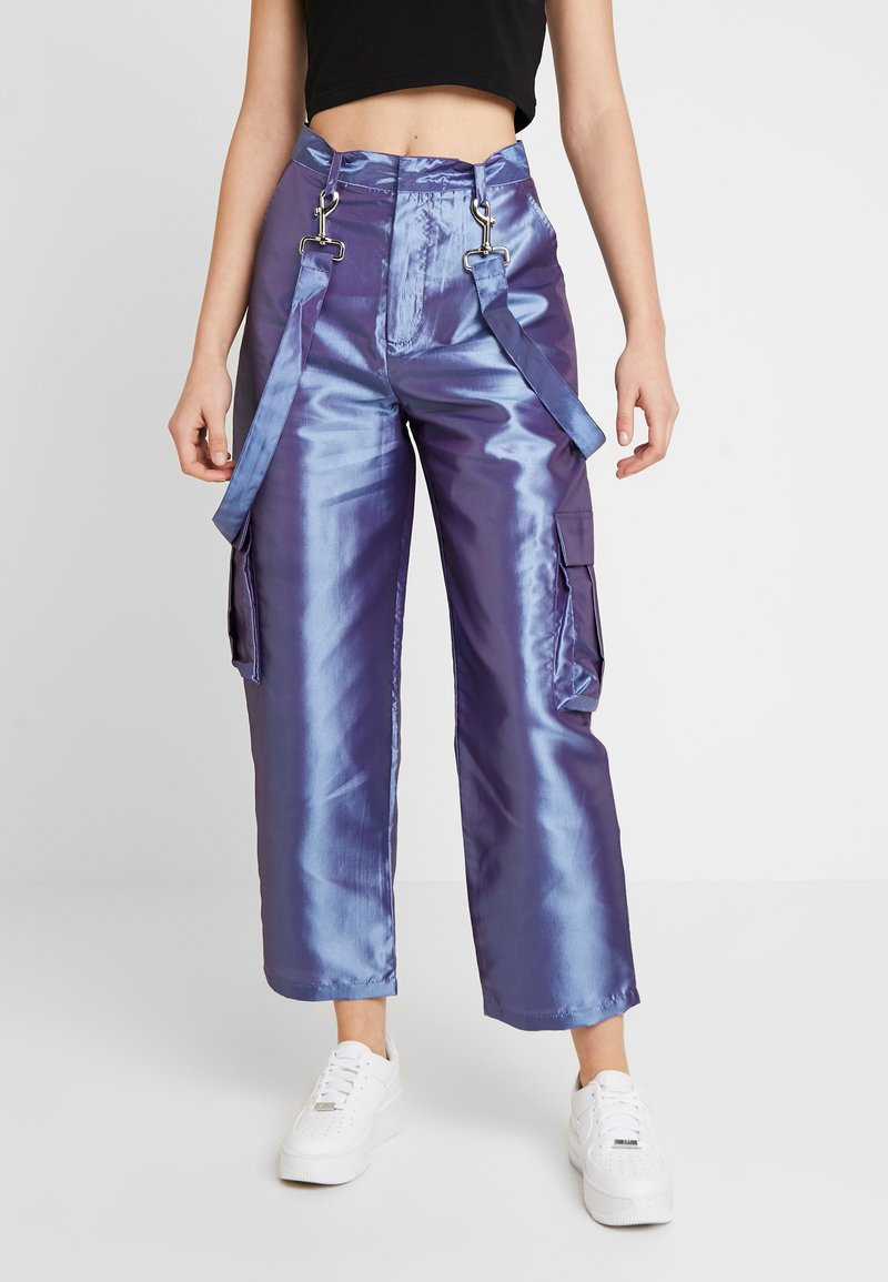 The Ragged Priest - STRAIGHT LEG TROUSER WITH COMBAT POCKETS & STRAP DETAIL - Trousers - lilac