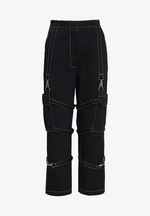 PANT WITH TRIGGERS - Pantaloni - black