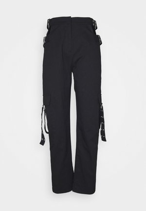 TIME TROUSER - Tygbyxor - black