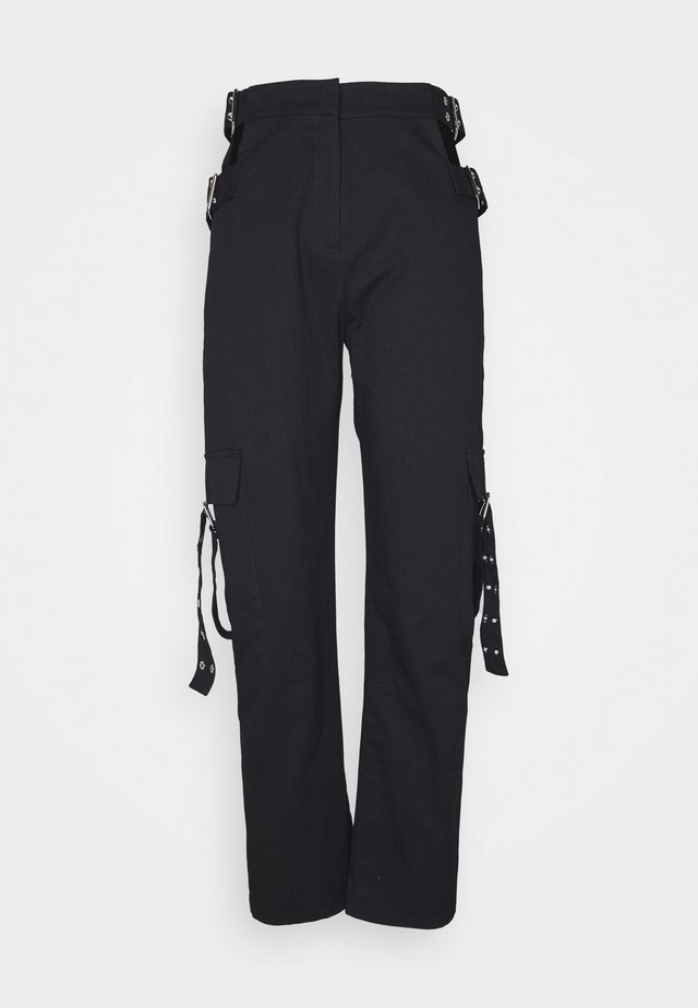 TIME TROUSER - Stoffhose - black