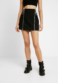The Ragged Priest - TEARS SKIRT - Mini skirt - black - 0