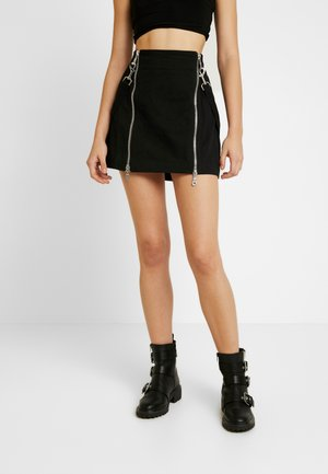 TEARS SKIRT - Minihame - black