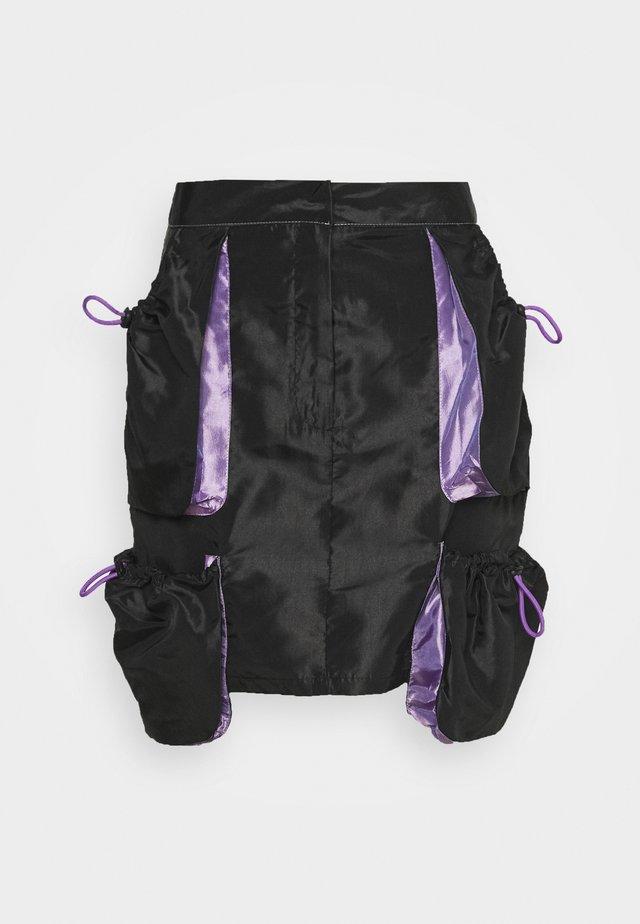 Minirok - black/purple