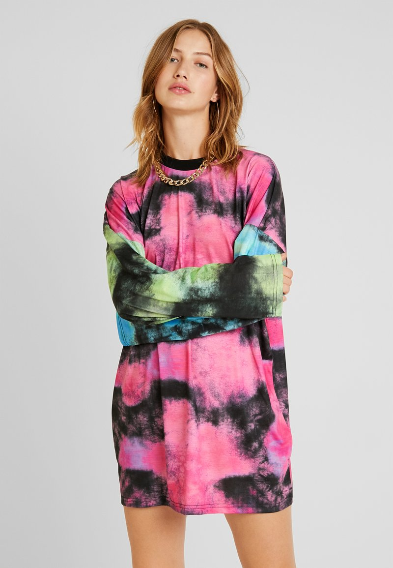 The Ragged Priest - MIXED TIE DYE LONG SLEEVE DRESS - Jerseykleid - multi