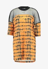 The Ragged Priest - CYNIC DRESS - Vestito di maglina - orange/black - 3