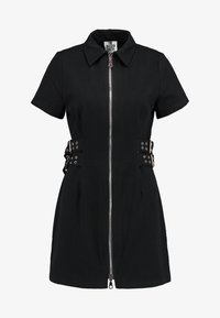The Ragged Priest - DRILL FITTED  DRESS WITH BUCKLE EYELET DETAIL - Farkkumekko - black - 4
