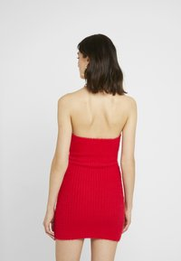 The Ragged Priest - FLUFFY MINI HALTER DRESS WITH CHAIN DETAIL - Day dress - red - 2