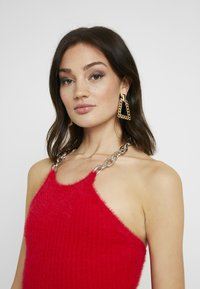 The Ragged Priest - FLUFFY MINI HALTER DRESS WITH CHAIN DETAIL - Day dress - red - 3