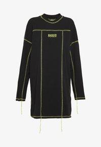 The Ragged Priest - EXPOSED SEAM DRESS - Korte jurk - black/lime - 6