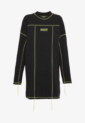 EXPOSED SEAM DRESS - Denní šaty - black/lime