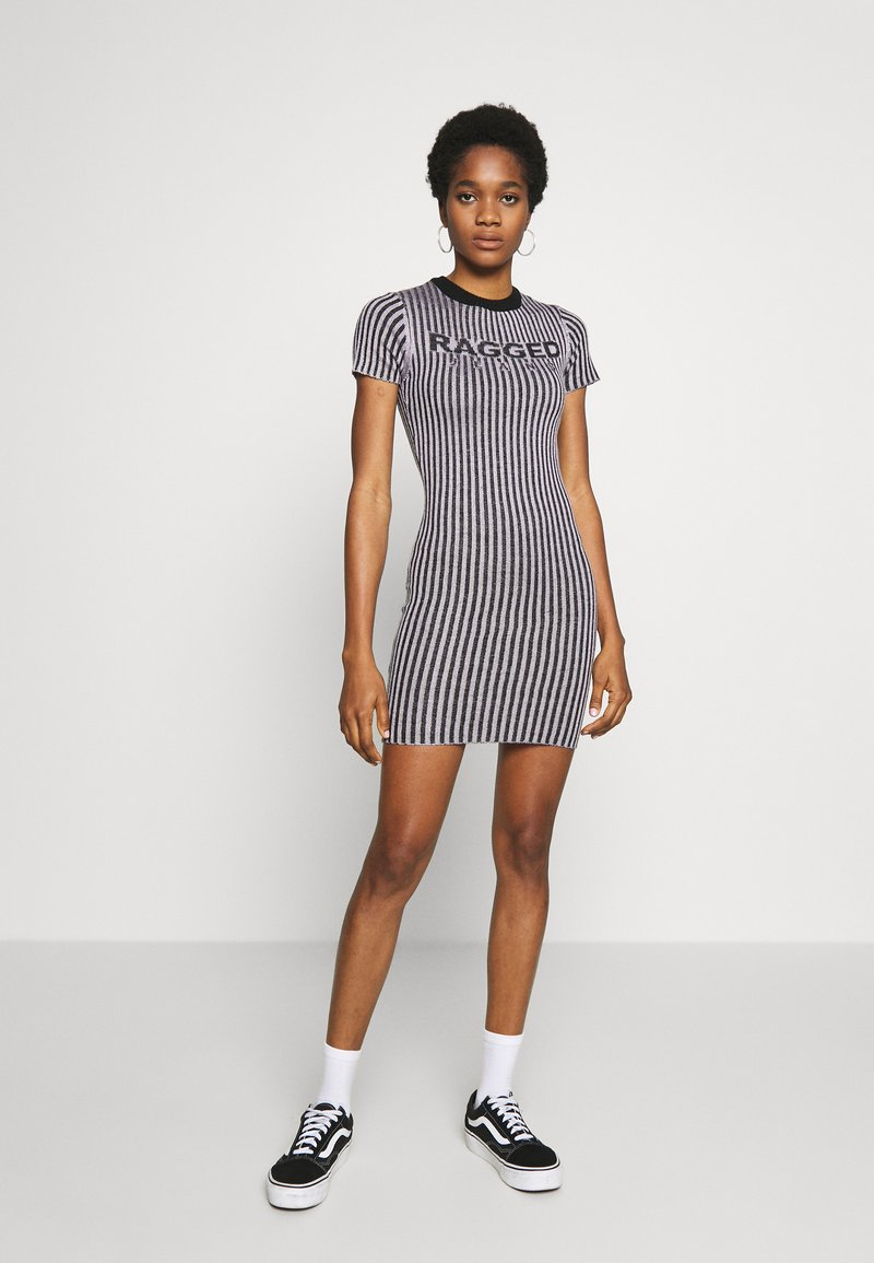 The Ragged Priest - PLATED RINGER DRESS - Jumper dress - lilac/black