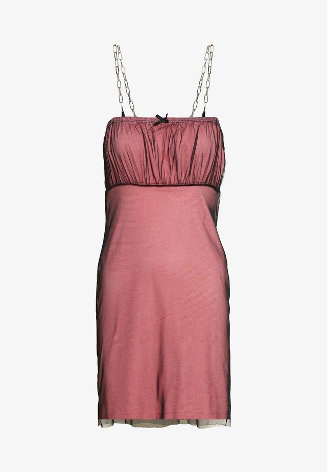 GATHERED BUST DRESS - Tubino - pink