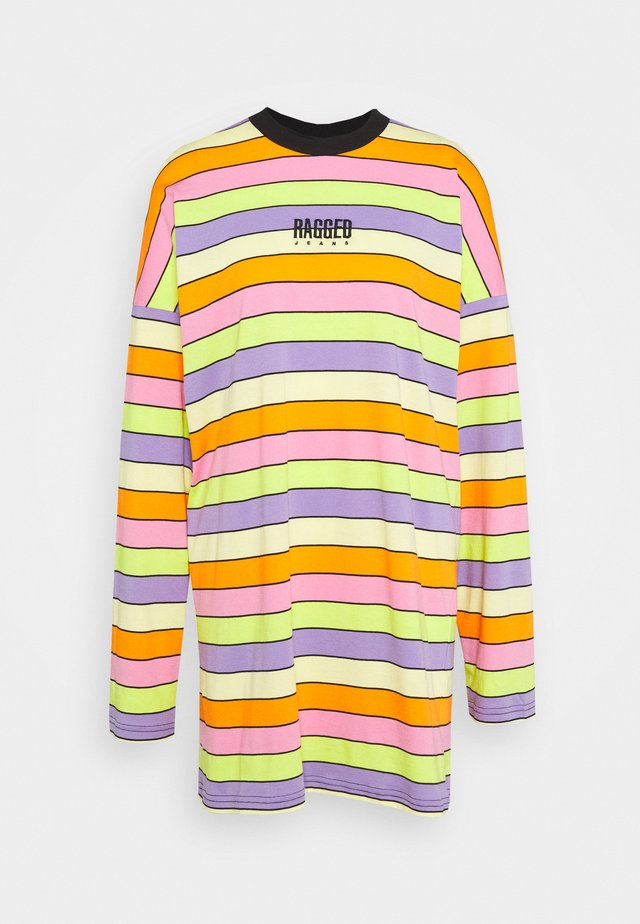 RAINBOW STRIPE SKATER DRESS - Jersey dress - multi coloured