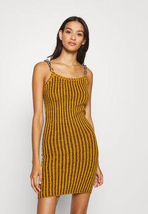 SHACKLE - Shift dress - dark yellow