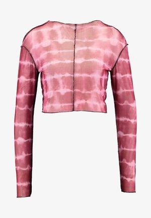 RUNAWAY CROP - Långärmad tröja - maroon/pink