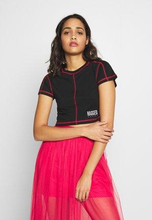 FLATLOCK - T-shirt con stampa - black