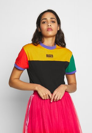 MIXED COLOURBLOCK TEE - Triko s potiskem - multi