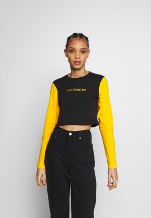 CROP SLEEVES - Maglietta a manica lunga - black