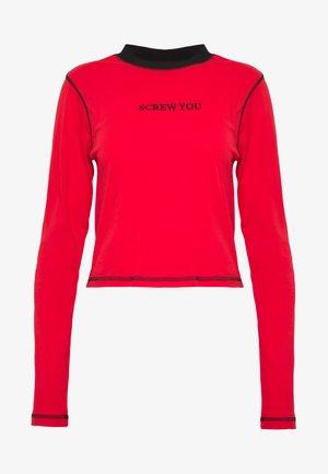 FLATLOCK LONGSLEEVE - Topper langermet - red