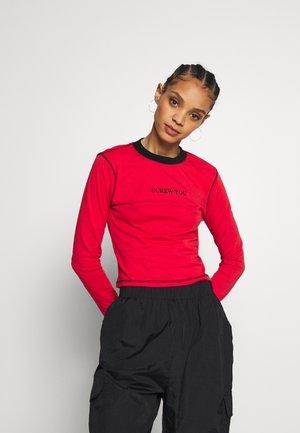 FLATLOCK LONGSLEEVE - T-shirt à manches longues - red
