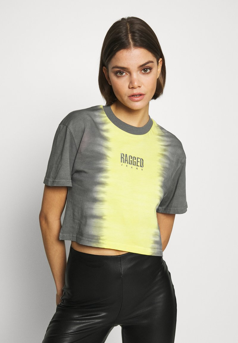 The Ragged Priest - DIP DYE CROPPED BOY TEE - T-shirt con stampa - yellow/black