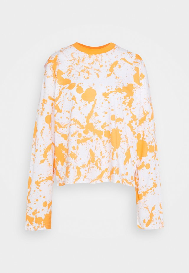 PAINT SPLAT PRINT SKATER TEE - Langarmshirt - orange