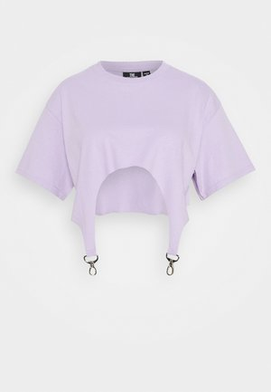 TEE WITH TRIGGERS - Triko s potiskem - lilac