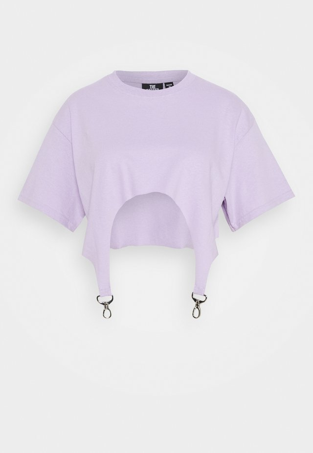 TEE WITH TRIGGERS - Print T-shirt - lilac