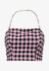 The Ragged Priest - GINGHAM TUBE WITH CHAIN HALTER - Bluser - pink - 4
