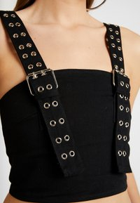 The Ragged Priest - DRILL CAMI WITH BUCKLE AND EYELET DETAIL - Bluser - black - 5