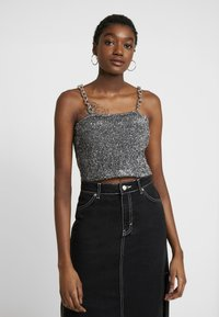 The Ragged Priest - TINSEL CAMI WITH CHAIN STRAP DETAIL - Camicetta - silver - 0