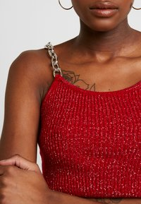 The Ragged Priest - GLITTER CAMI  WITH CHAIN STRAP DETAIL - Top - red - 5