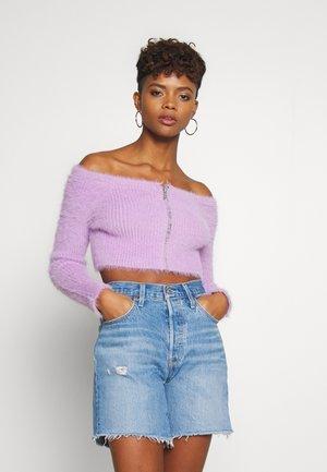 ZIP BARDOT - Cardigan - lilac