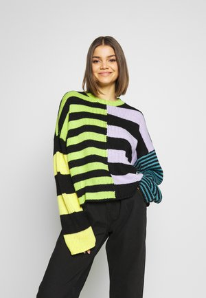 CHUNKY MIX STRIPE JUMPER - Strikkegenser - multi