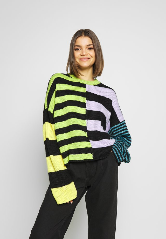 CHUNKY MIX STRIPE JUMPER - Strickpullover - multi